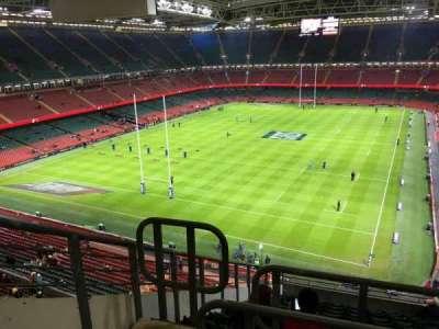 Principality Stadium, section: U38, row: 14, seat: 3