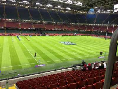 Principality Stadium, section: M33, row: 11, seat: 12
