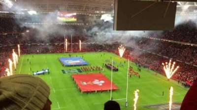 Principality Stadium, section: 621, row: 26, seat: 5