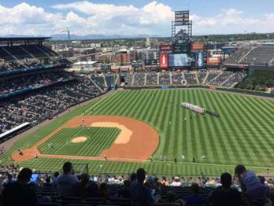 Coors Field, section: U319, row: 24, seat: 14