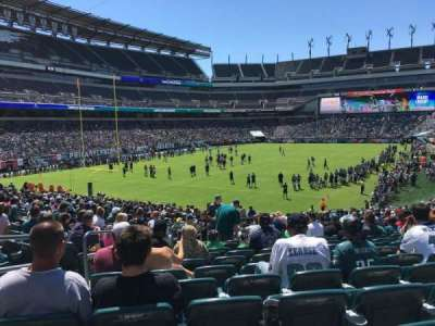Lincoln Financial Field, section: 132, row: 28, seat: 20