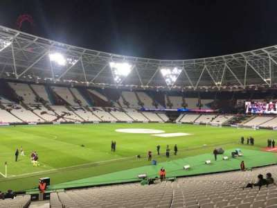 London Stadium, section: 104, row: 24
