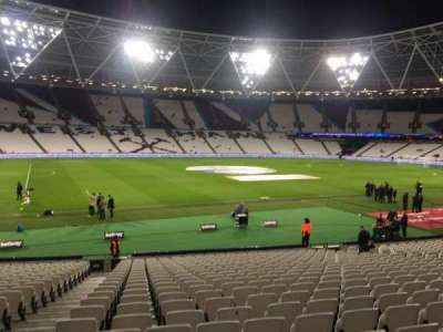 London Stadium, section: 106, row: 22