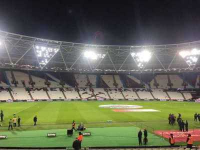 London Stadium, section: 107, row: 20