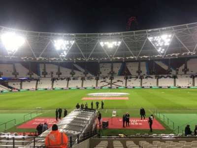 London Stadium, section: 109, row: 17