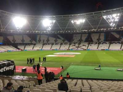 London Stadium, section: 110, row: 19