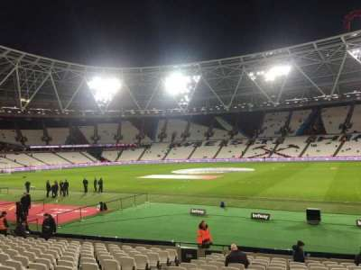 London Stadium, section: 111, row: 19