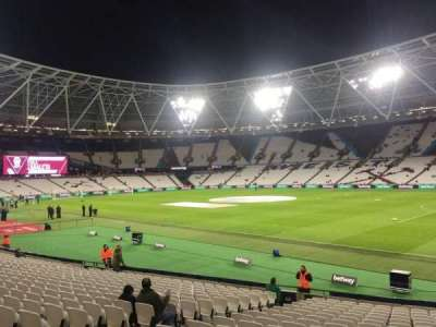 London Stadium, section: 114, row: 20