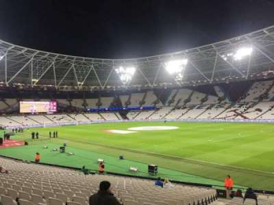 London Stadium, section: 114, row: 23