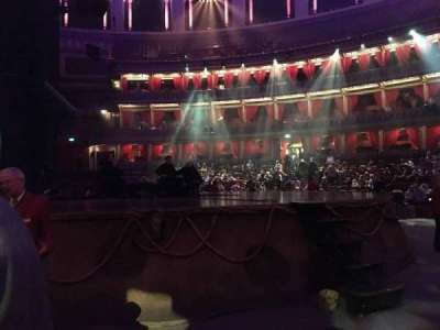 Royal Albert Hall, section: Stalls H, row: 1, seat: 33