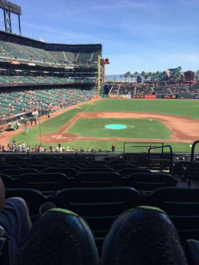 AT&T Park, section: 210, row: H, seat: 2
