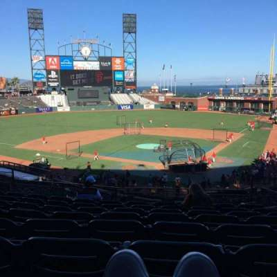 AT&T Park, section: 117, row: H, seat: 4