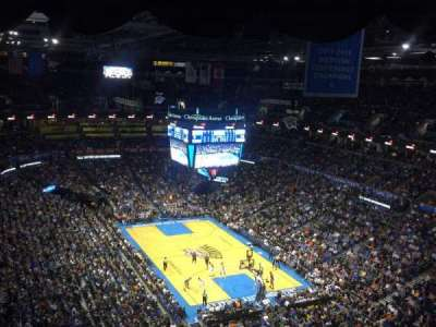 Chesapeake Energy Arena, section: 303, row: Q, seat: 19