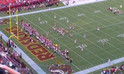 FedEx Field, section: 407, row: 14, seat: 15