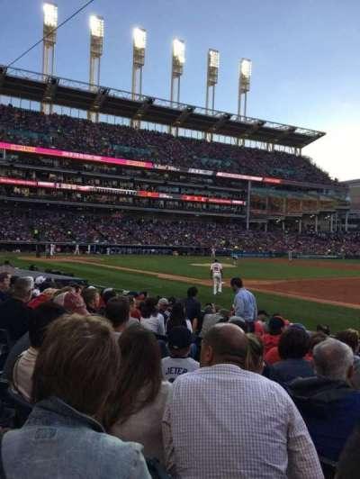 Progressive Field, section: 136, row: L, seat: 5