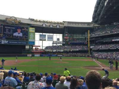 Miller Park, section: 120, row: 13