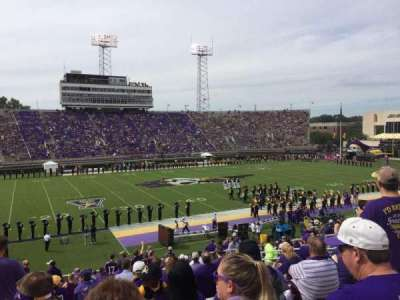 Dowdy-Ficklen Stadium, section: 19, row: Y, seat: 16