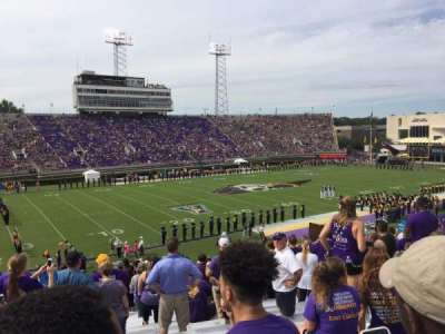 Dowdy-Ficklen Stadium, section: 20, row: CC, seat: 23