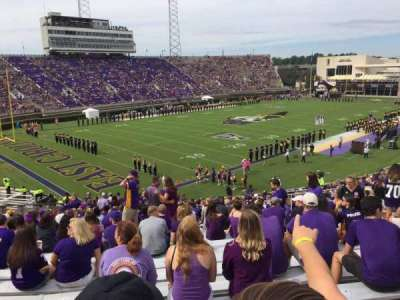 Dowdy-Ficklen Stadium, section: 22, row: EE, seat: 9