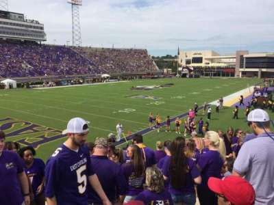 Dowdy-Ficklen Stadium, section: 22, row: M, seat: 22