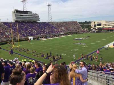 Dowdy-Ficklen Stadium, section: 23, row: S, seat: 4