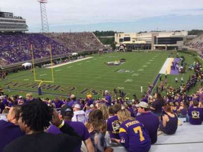 Dowdy-Ficklen Stadium, section: 24, row: DD, seat: 18