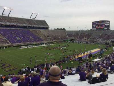 Dowdy-Ficklen Stadium, section: 11, row: MM, seat: 2