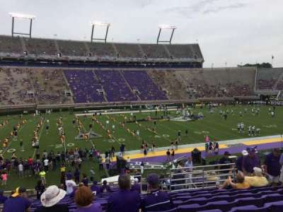 Dowdy-Ficklen Stadium, section: 8A, row: Y, seat: 10