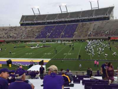 Dowdy-Ficklen Stadium, section: 4A, row: Z, seat: 5