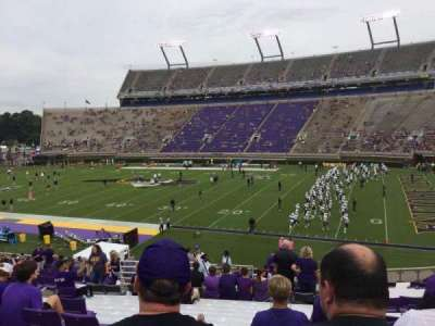 Dowdy-Ficklen Stadium, section: 3, row: HH, seat: 16