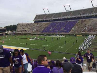 Dowdy-Ficklen Stadium, section: 2, row: BB, seat: 22