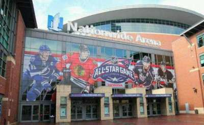 Nationwide Arena, section: Outside