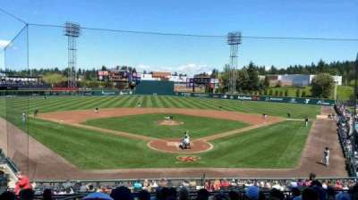 Cheney Stadium, section: H, row: 10, seat: 1