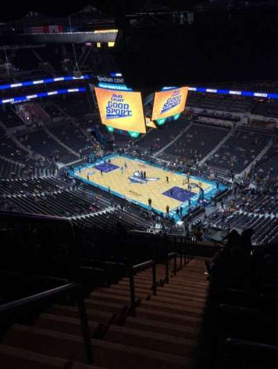 Spectrum Center, section: 221, row: T, seat: 26