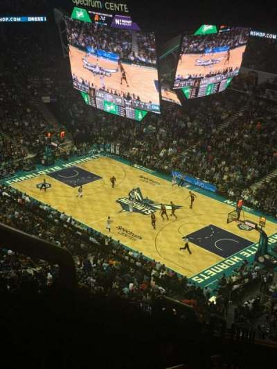 Spectrum Center, section: 221, row: T, seat: 27
