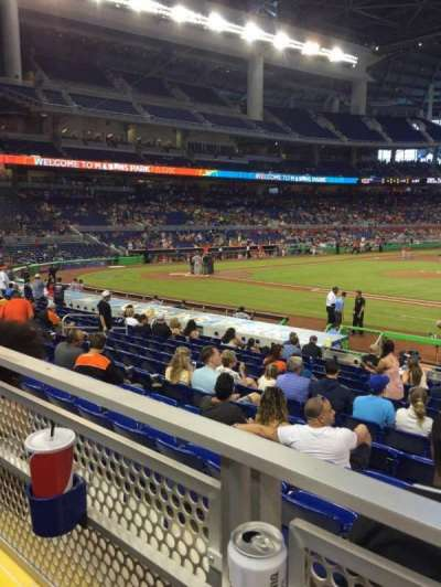 Marlins Park, section: 8, row: 1, seat: 8