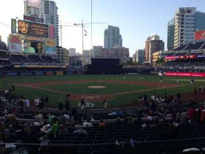 PETCO Park, section: G, row: 1, seat: 6