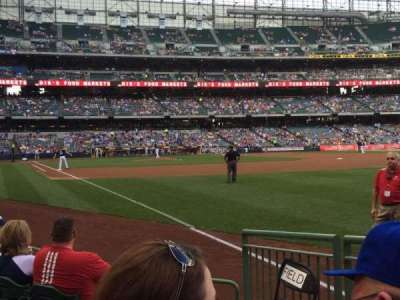 Miller Park, section: 109, row: 5, seat: 27