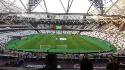 London Stadium, section: 222, row: 53, seat: 5