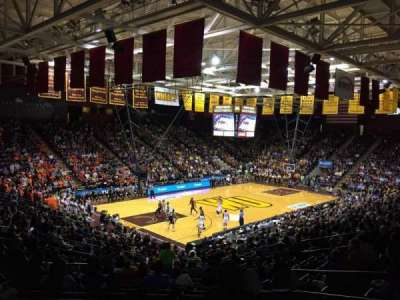 Winthrop Coliseum, section: 119, row: U, seat: 8
