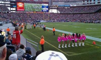 Gillette Stadium, section: 101, row: 4, seat: 1