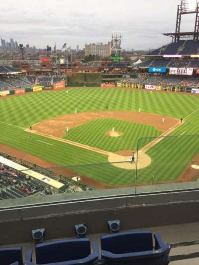 Citizens Bank Park, section: 322, row: 3, seat: 2