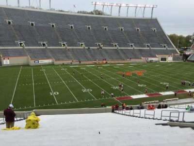 Lane Stadium, section: 204, row: VV, seat: 26