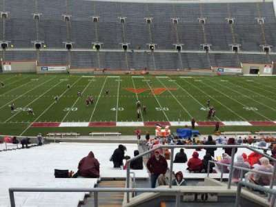 Lane Stadium, section: 10, row: TT, seat: 3