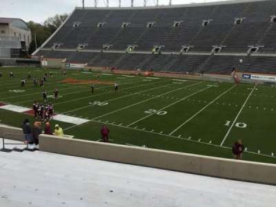 Lane Stadium, section: 18, row: W, seat: 17