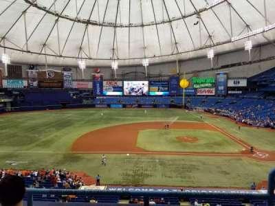 Tropicana Field, section: 211, row: C, seat: 18