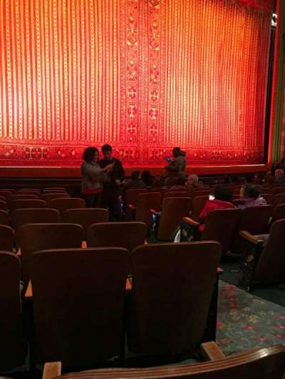 New Amsterdam Theatre, section: Orchestra, row: J, seat: 5
