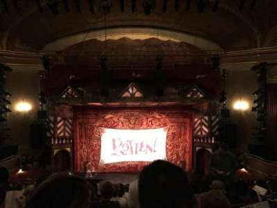 St. James Theatre, section: Mezzanin, row: M, seat: 107