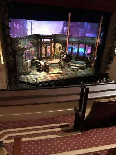 Samuel J. Friedman Theatre, section: Mezzanine, row: A, seat: 1