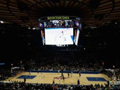 Madison Square Garden, section: 107, row: 20, seat: 16